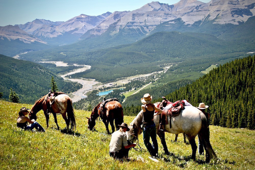 John Ruler's image of horse riding in the Canadian Rockies.