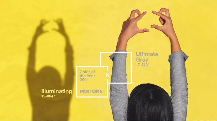 The meaning behind Colour of The Year 2021: Ultimate Gray and Illuminating by Pantone®