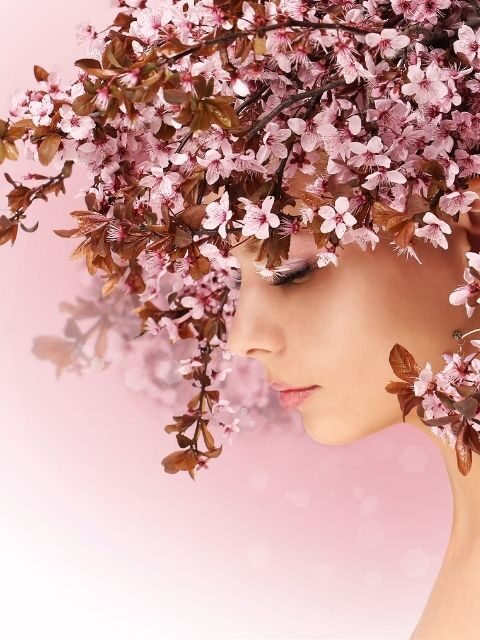 Blossoms | Cherry Blossoms Single Woman with Blossoms