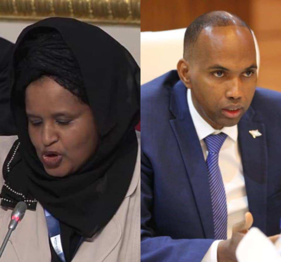 PM Kheire Accused of fake news and falsehood by the Former Minster of commerce Khadra Dualeh