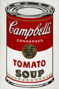 The famous can: Warhol and Campbell's He Tien Package Co.