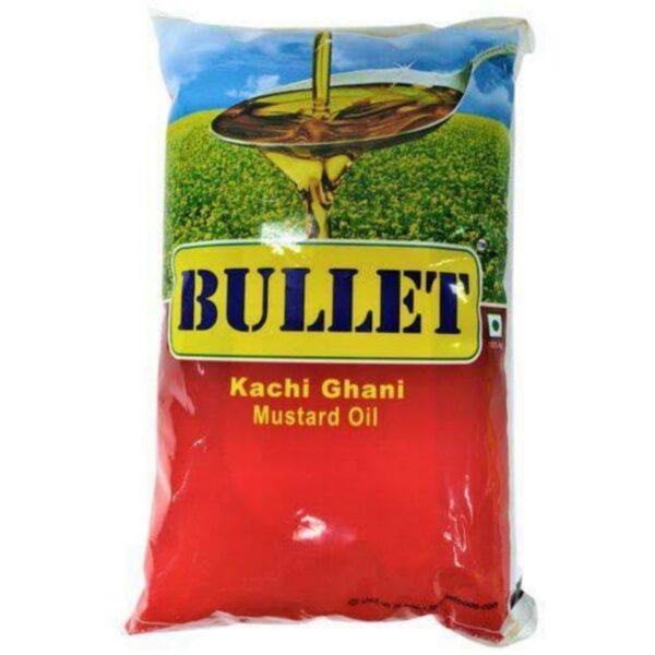 Bullet Kachi Ghani Mustard Oil 1 Ltr Pouch