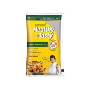 Emami Healthy and Tasty Refined Sunflower Oil, 1L Pouch
