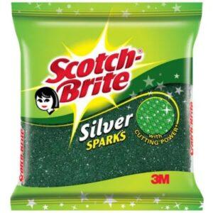 Scotch Brite Silver Sparks Scrub Pad 7 cm x 7.5 cm