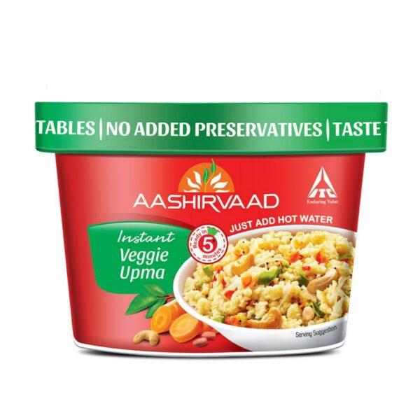 Aashirvaad Instant Meals Veggie Upma Cup 80G