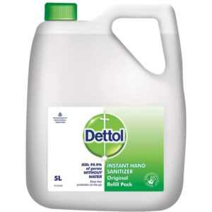 Dettol Original Germ Protection Alcohol based Hand Sanitizer Refill Jar, 5L