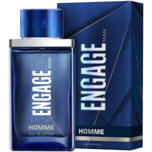 Engage Homme Eau De Parfum, Perfume for Men, 90ml, Citrus & Woody, Skin Friendly
