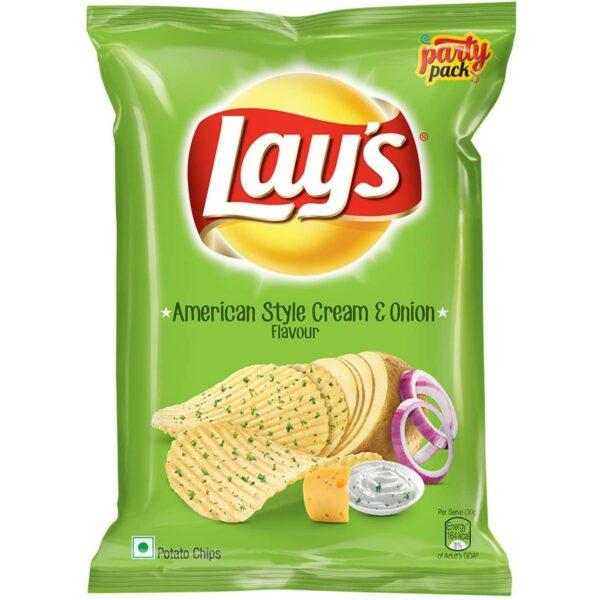 Lay's American Style Potato Chips - Cream & Onion, 30g