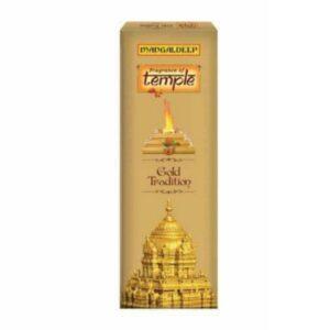 Mangaldeep Temple Yagna Gold Tradition Agarbatti 16 Sticks