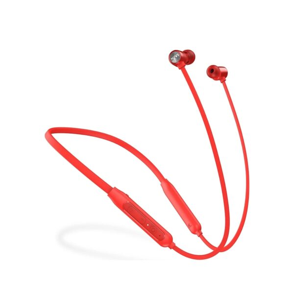 Mivi Collar Classic Neckband with Fast Charging Bluetooth Headset (Red, In the Ear)