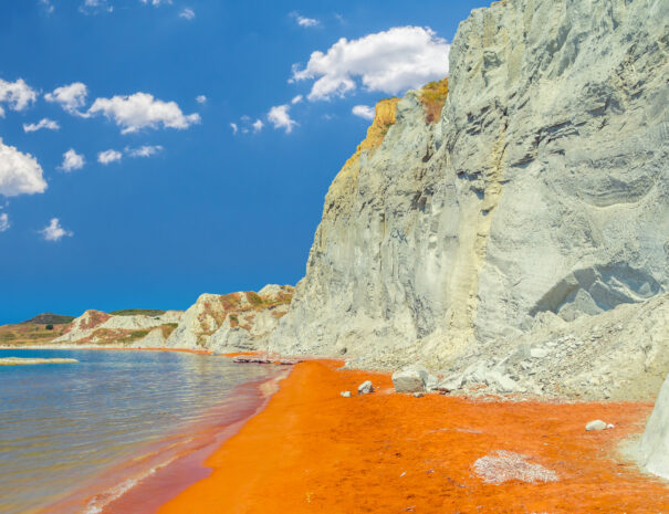 Xi Beach red sand