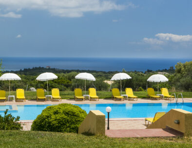 Apartment studios with stunning sea views and swimming pool