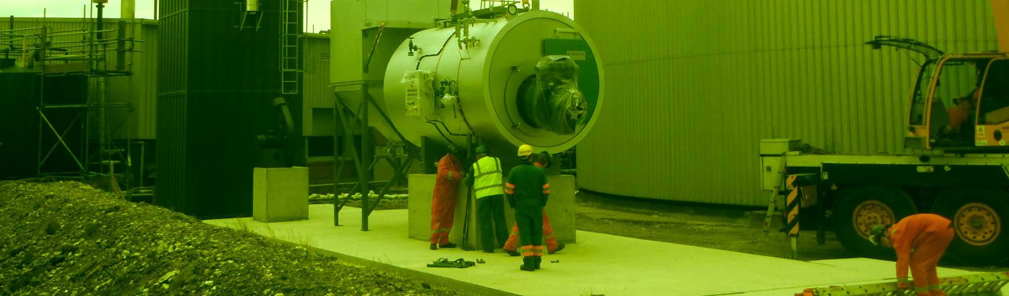 Boiler installation at Immingham