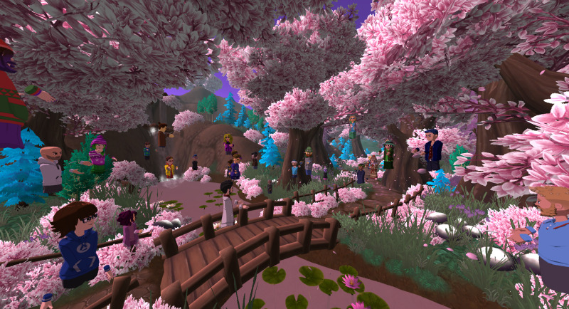 Fae's Cherry Blossom World in AltspaceVR.