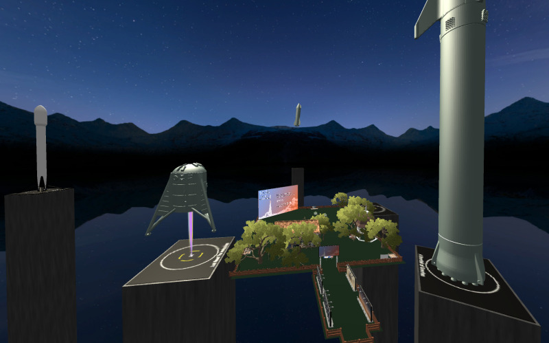 Rocket launches for the Mars Perservance Launch Virtual World in AltspaceVR.