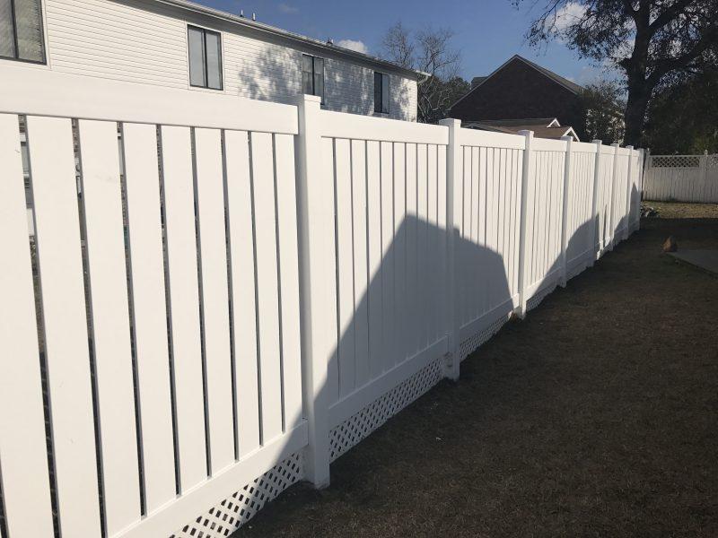 white vinyl fence charlotte nc