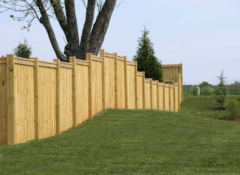 Wood residential fence in Fort Mill