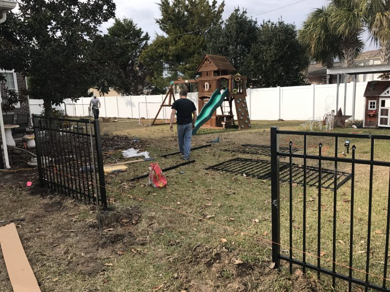 Aluminum fence company in Rock Hill