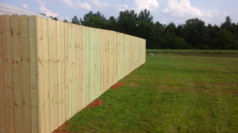 Wood residential fence in Charlotte