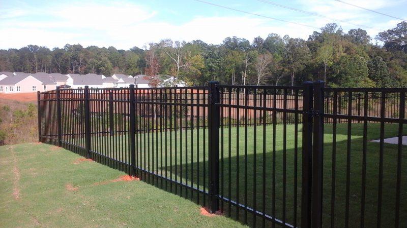 Aluminum fence installation in Lancaster