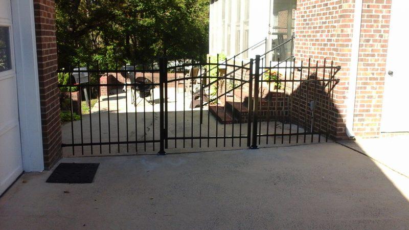 Aluminum fence installation in Rock Hill