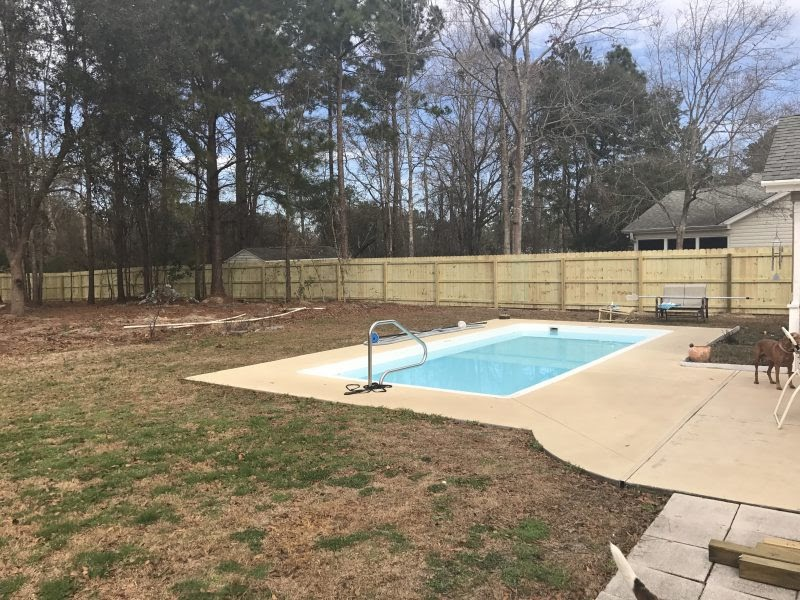 Wood fence installation in Charlotte