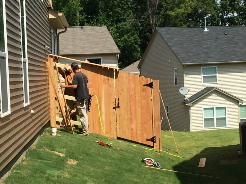 wood fence installation lancaster sc
