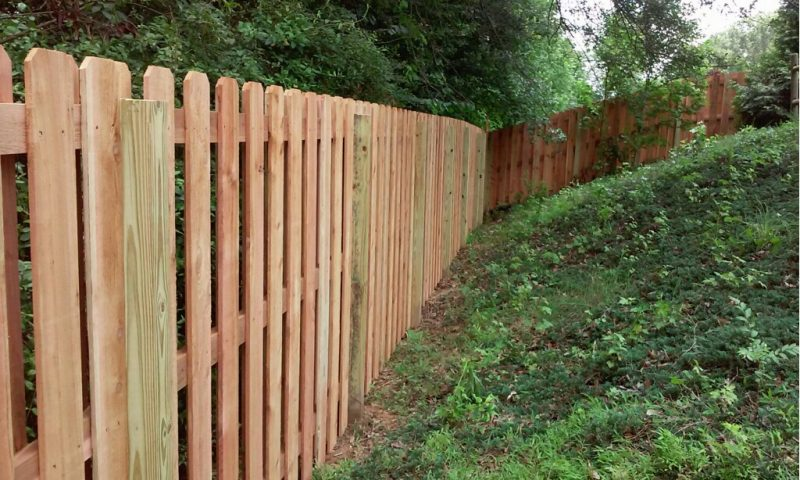 Wood residential fence in Lancaster
