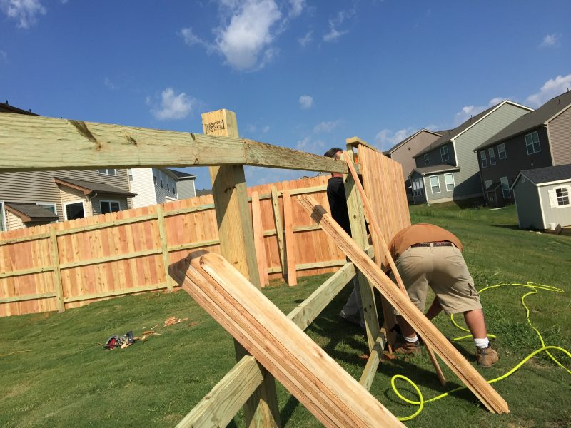 cheap wood fence installation fort mill sc