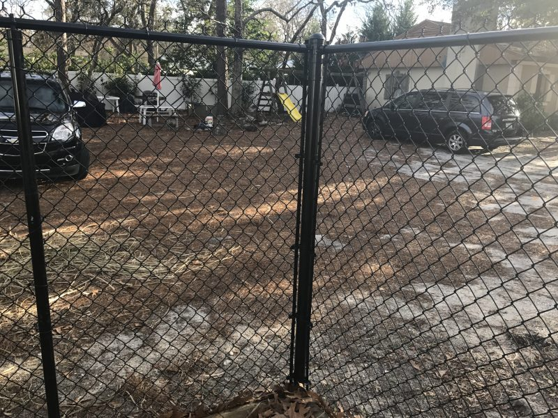 Chain link fence installation in Fort Mill