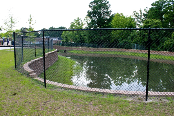 Chain link fence installation in Rock Hill