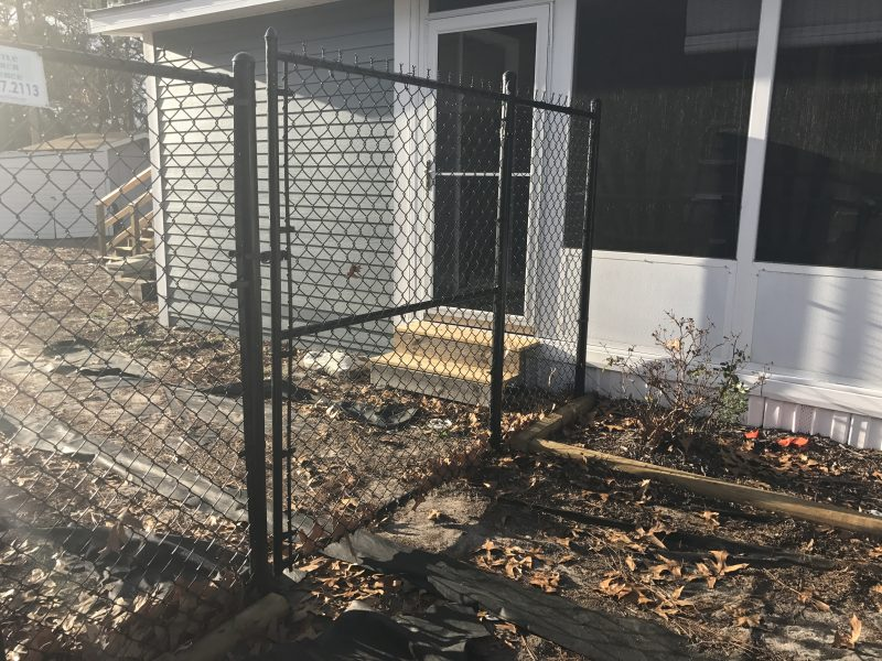 Chain link fence installation in Lancaster