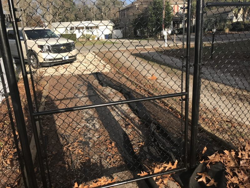 Chain link fence installation in Indian Land