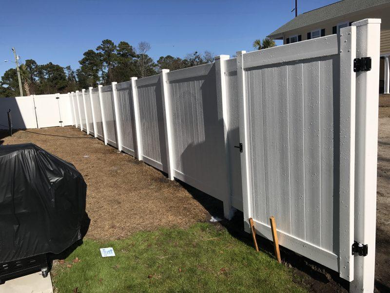 Vinyl fence installation in Rock Hill