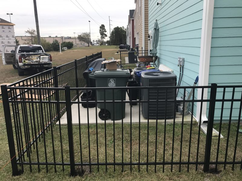 Aluminum fence installation in Indian Land