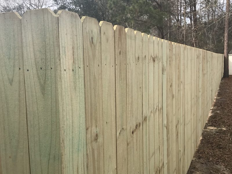 Affordable Wood fence in Charlotte