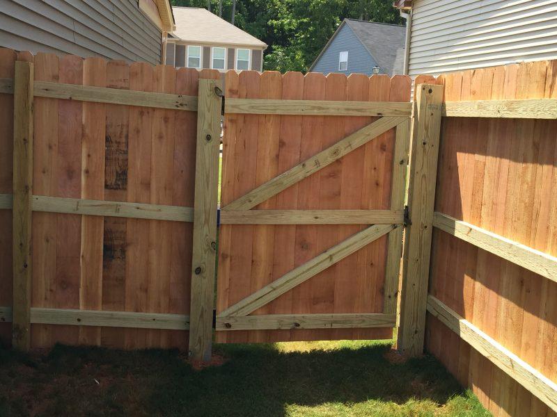 wood fence gate installation charlotte nc
