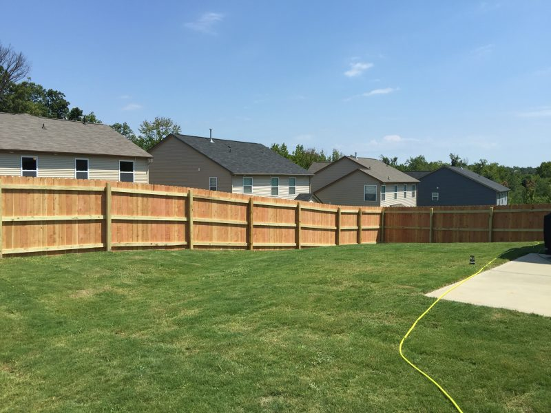 Affordable Wood fence in Indian Land