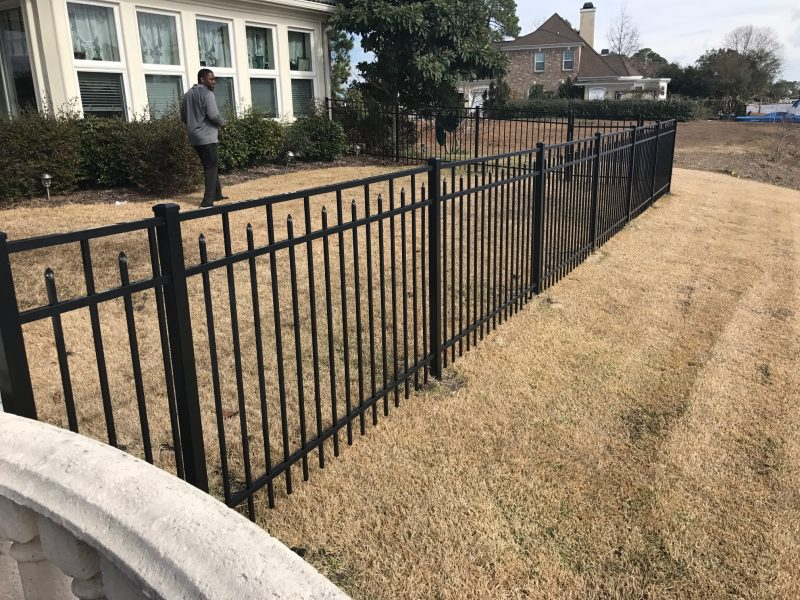 aluminum fence installation in Charlotte, Fort Mill, Waxhaw, and surrounding areas