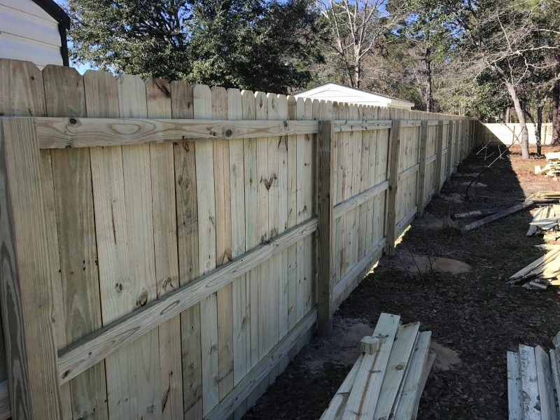 affordable wood fence installation lancaster sc