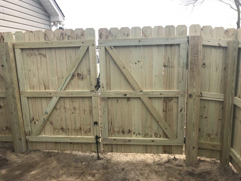 cheap wood fence lancaster sc