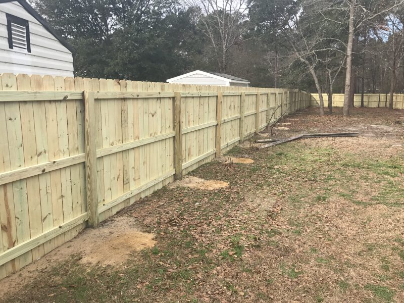 Affordable Wood fence in Lancaster