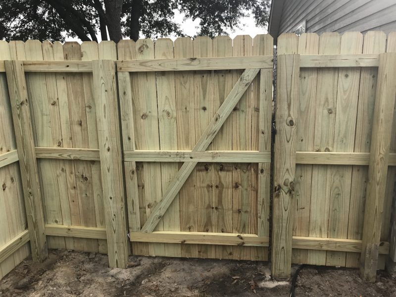 Residential Wood fence installation in Charlotte, Fort Mill, Waxhaw, and surrounding areas