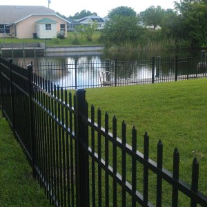 Aluminum residential fence installation in Rock Hill