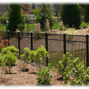Aluminum residential fence installation in Lancaster