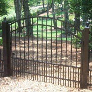 black fence installation charlotte