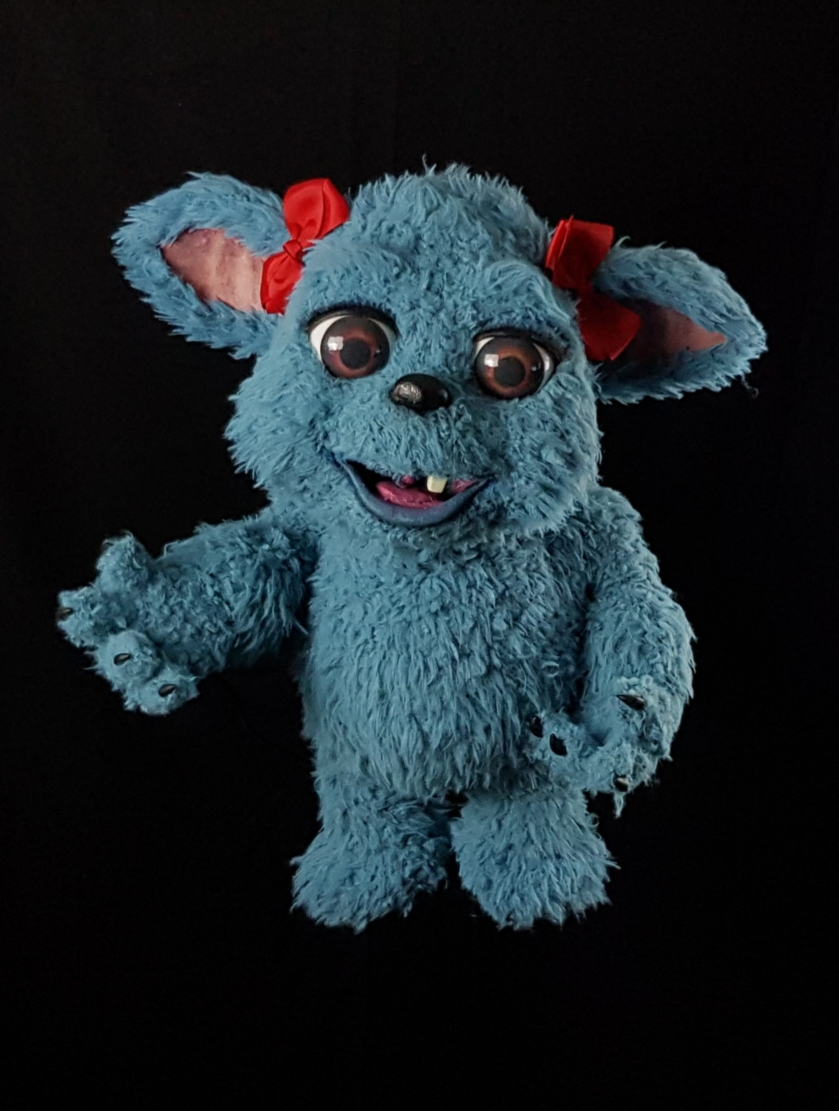 Monster puppet by puppet maker Chris Barlow