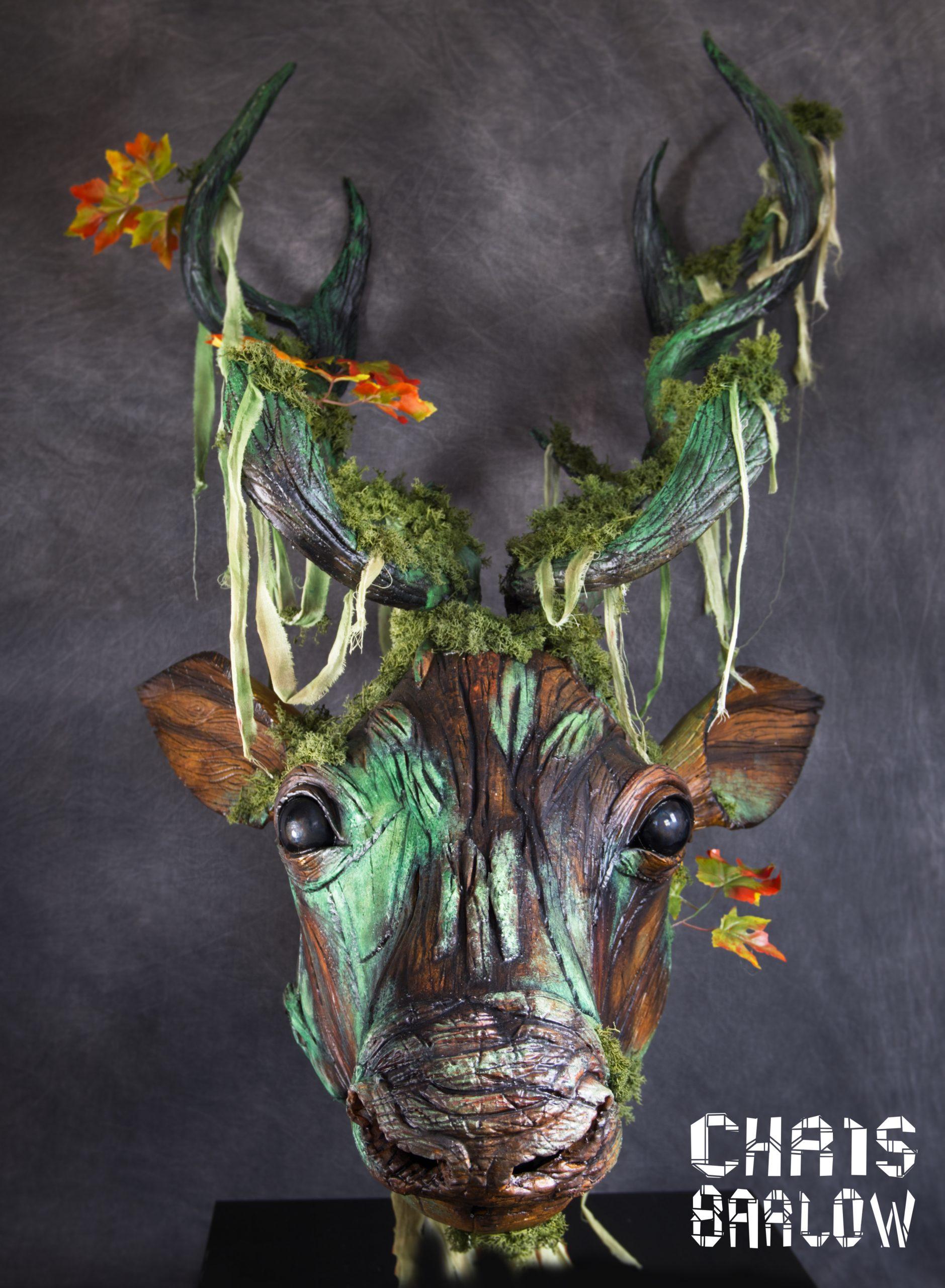example of wood textured foam puppet reindeer