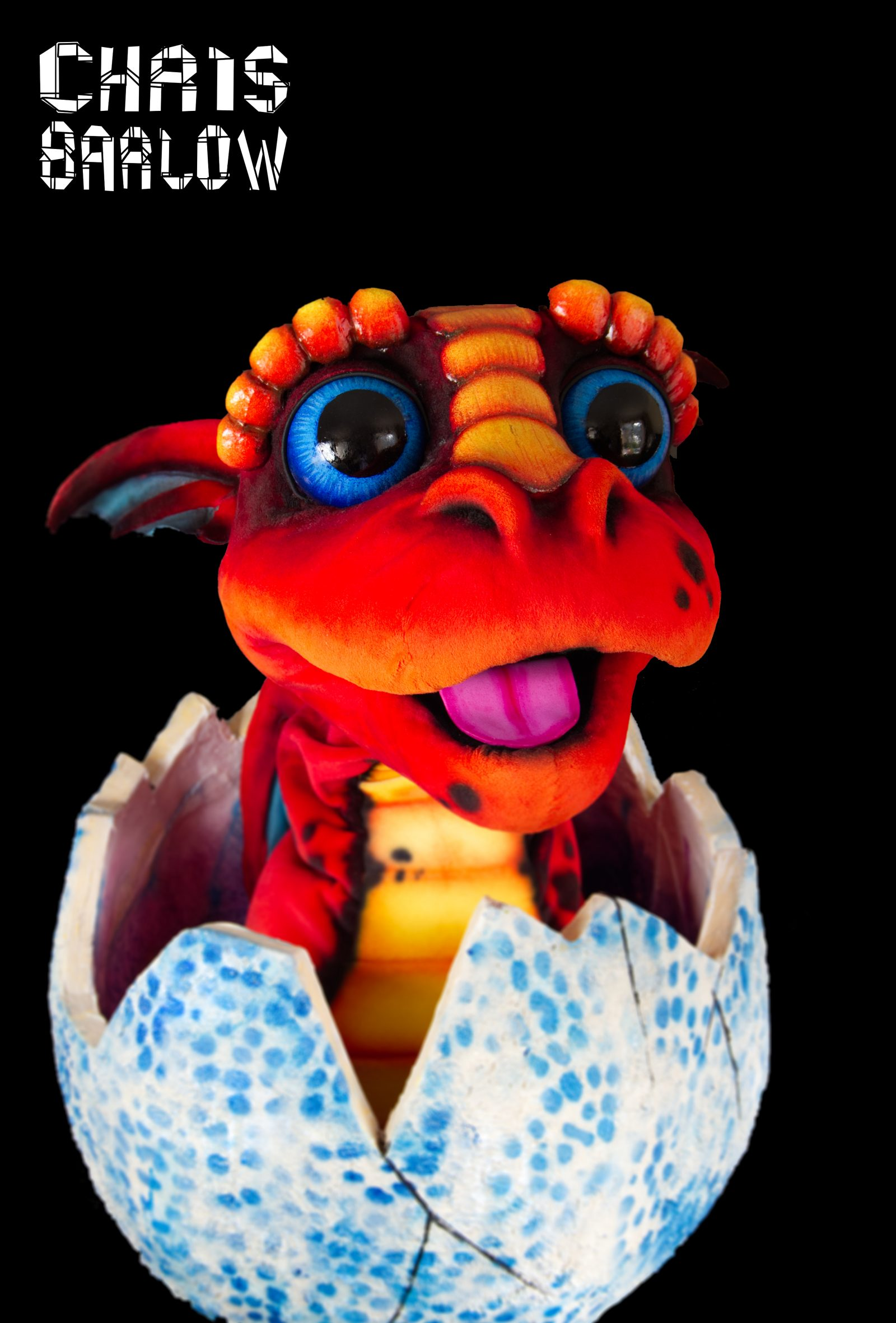 example of the Baby dragon puppet