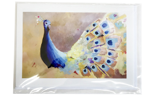 Peacock Shimmer Card